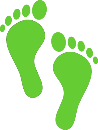 Footprints - green