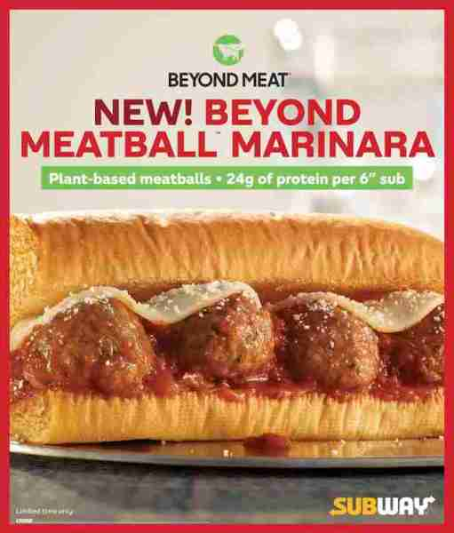 Subway Beyond Meatball sandwich