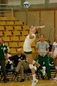 Volleyball needs five sets, tops Illinois St. in season opener