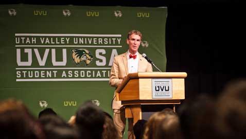 Bill Nye the science guy at UVU