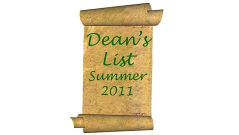 Summer 2011 Dean's List