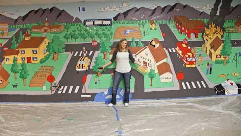 Mural teaches fire safety