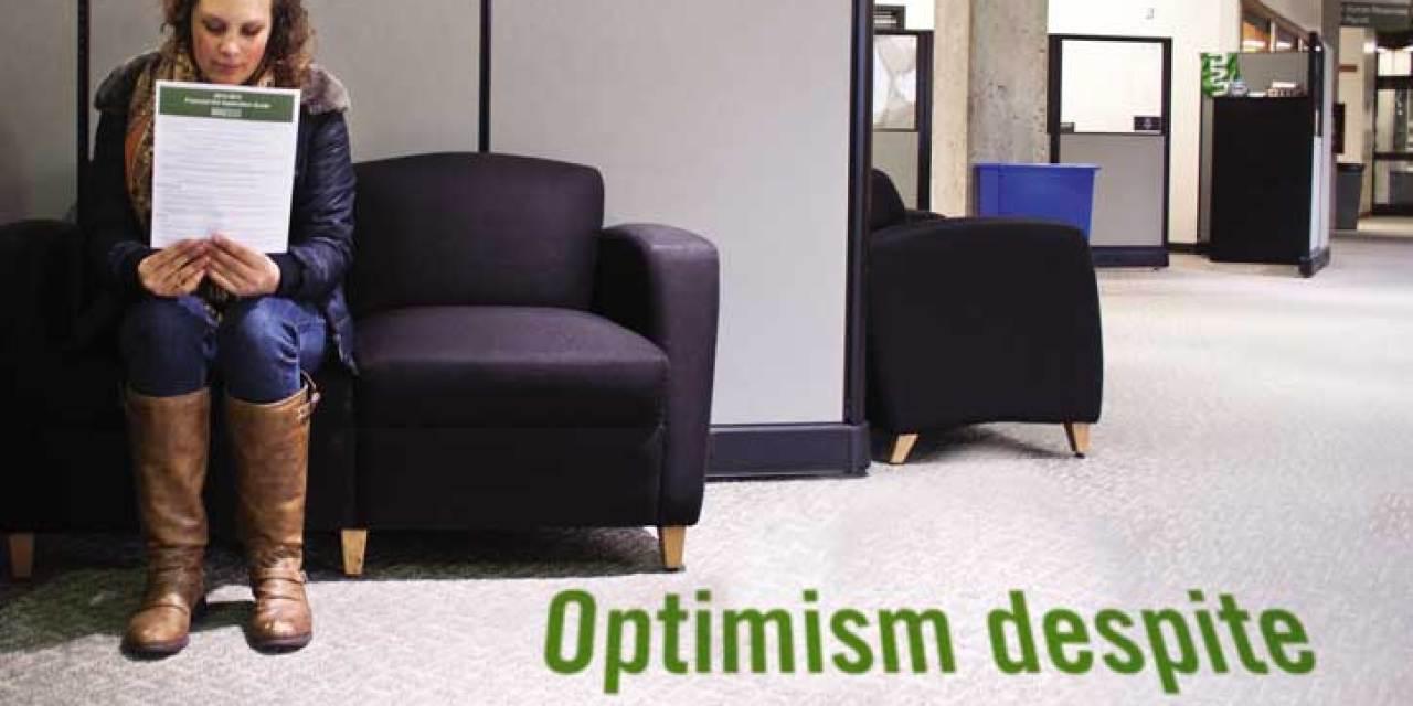 Optimism despite student debt for one in five