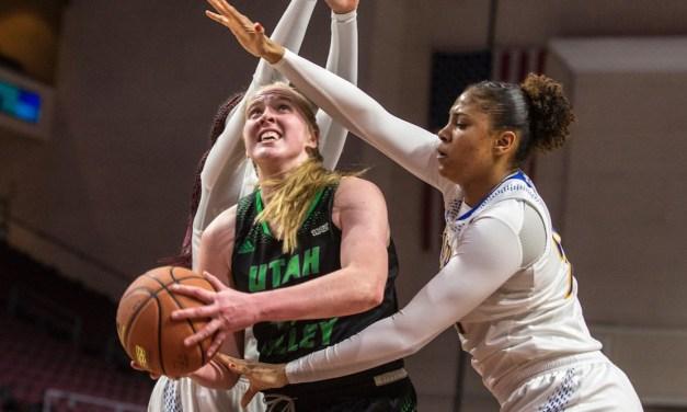 Women's basketball: No. 6 UVU stuns No. 3 CSUB in first round of WAC Tournament