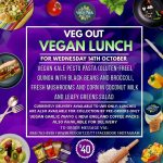 Wednesday 14th October Vegan Lunch