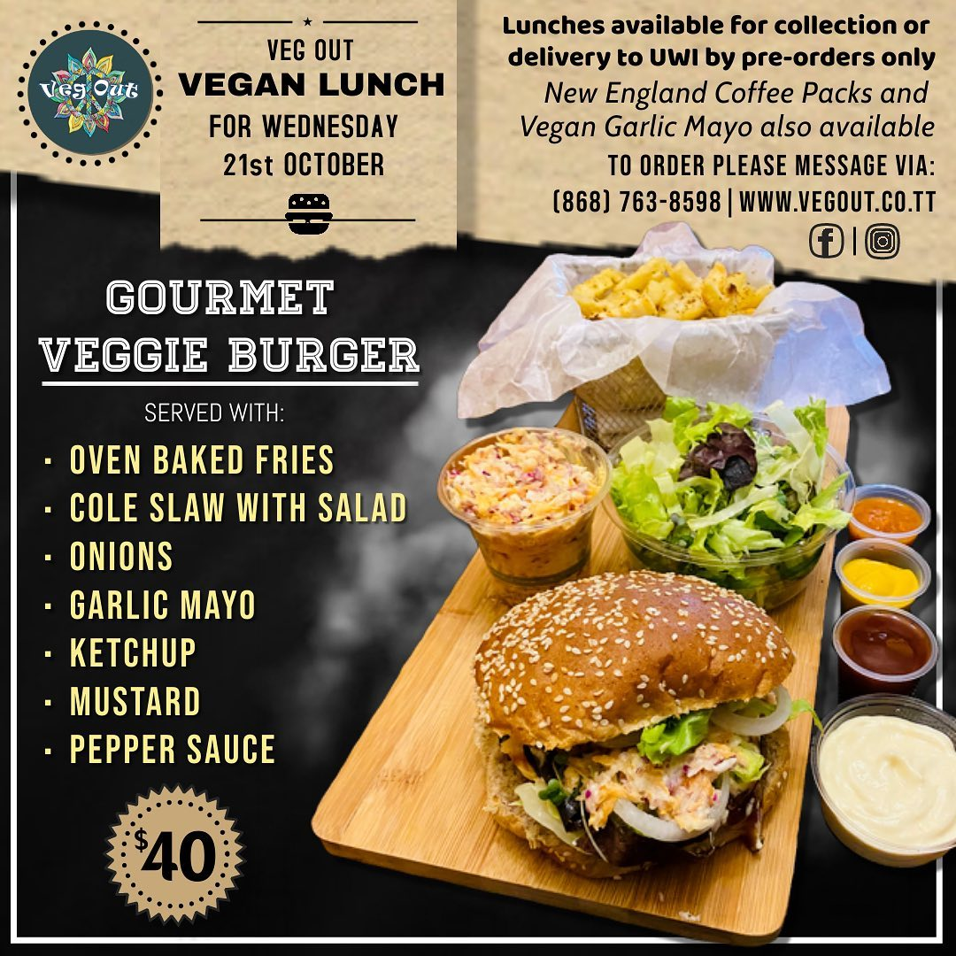 Wednesday 21st October Vegan Lunch