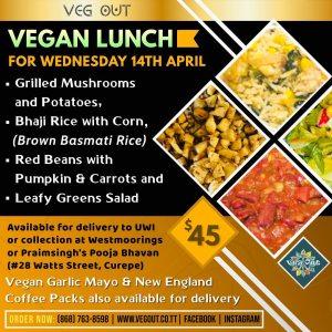 Wednesday 14th April Vegan Lunch