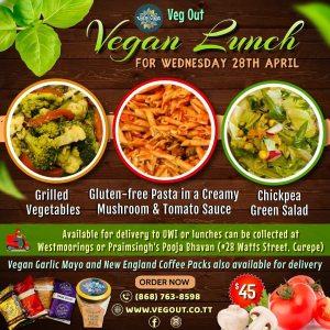 Wednesday 28th April Vegan Lunch