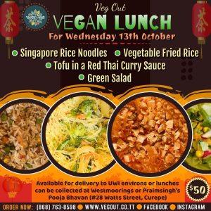 Wednesday 13th October Vegan Lunch