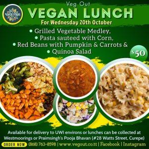 Wednesday 18th October Vegan Lunch