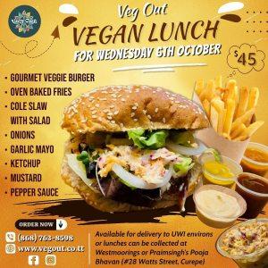Wednesday 6th October Vegan Lunch