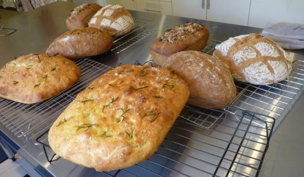 selection of loaves made on a bread basics course