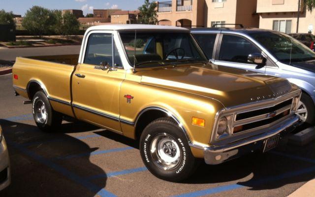1968 Chevrolet C10 Anniversary Gold Shortbed Fleetside