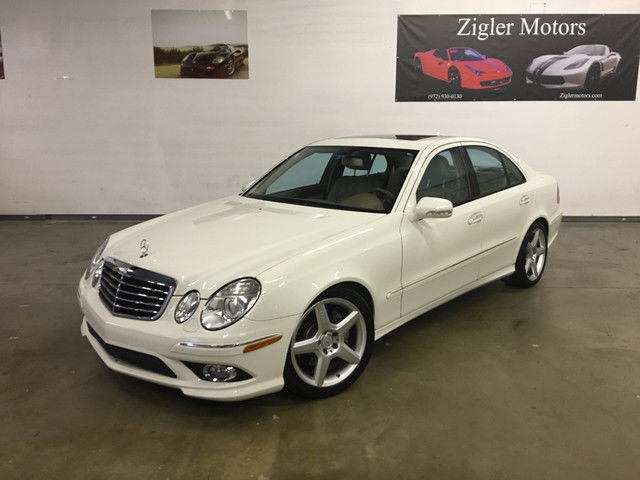2009 Mercedes E350 Sport White One Owner Clean Carfax Amg