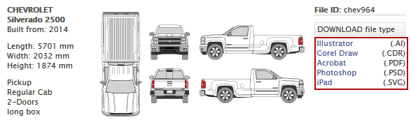 Downloading Vehicle Template Files