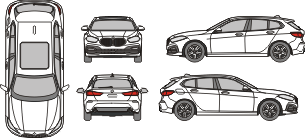 BMW 1er 2019 Vehicle Template