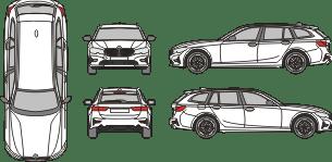 BMW 3er 2019 vehicle template