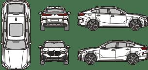 BMW X6 2019 vehicle template