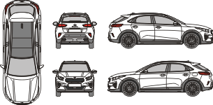 KIA X Ceed 2019 vehicle template