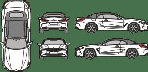 MERCEDES BENZ A - Class 2019 vehicle template