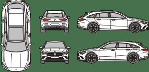 MERCEDES BENZ CLA 2019 vehicle template