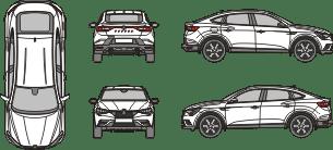 RENAULT Arkana 2019 vehicle template