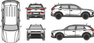 SSANGYONG Korando 2020 vehicle template