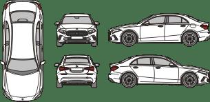 MERCEDES BENZ A - Class 2018 template