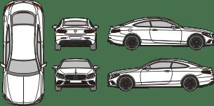 MERCEDES BENZ C - Class 2018 template