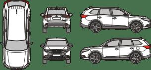 MITSUBISHI Outlander 2018 Vehicle Template
