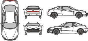 ALFA ROMEO GTV 1995 template
