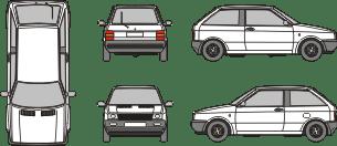 SEAT Ibiza 1985 template