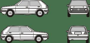 VOLKSWAGEN Golf 2 1983 template