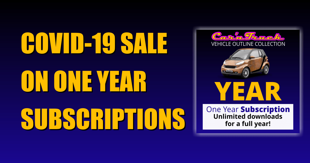 COVID-19 Sale on One Year Vehicle Templates Subscription