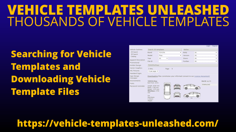 Searching for Vehicle Templates and Downloading Vehicle Template Files