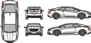 CADILLAC ELR 2016 Vehicle Template