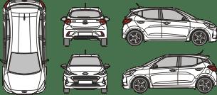 HYUNDAI i10 2020 Vehicle Template