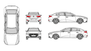 MAZDA 3 2019 Vehicle Template