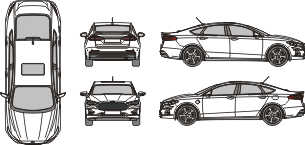 FORD Fusion 2020 Vehicle Template