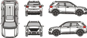 HYUNDAI Venue 2021 Vehicle Template