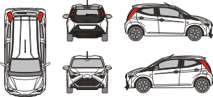 TOYOTA Aygo 2020 Vehicle Template