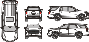 CHEVROLET Tahoe RST 2021 Vehicle Template