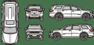 DODGE Durango 2021 Vehicle Template