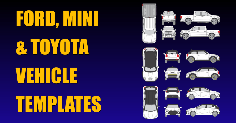 Ford, Mini and Toyota Vehicle Templates