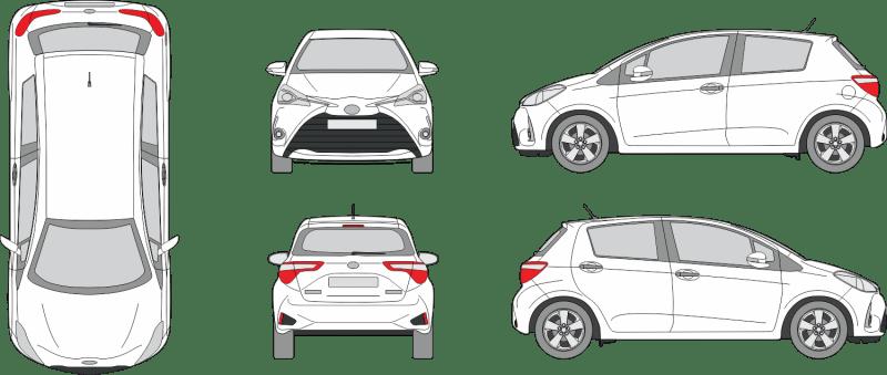 Toyota Yaris 2020 3-Door Vehicle Template
