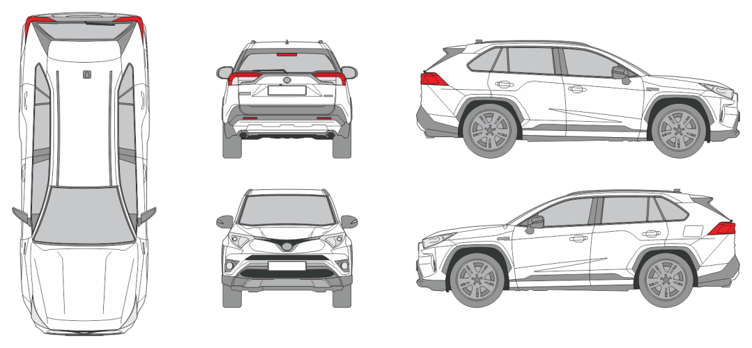 Toyotal RAV4 2018 Vehicle Template