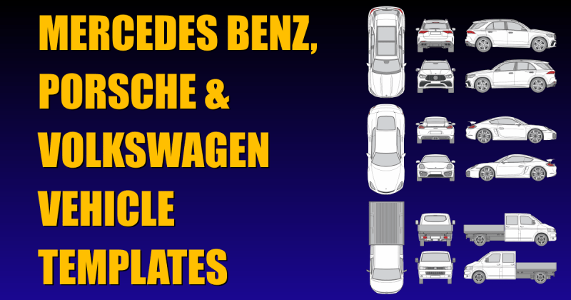 Mercedes Benz Porsche Volkswagen New Vehicle Templates