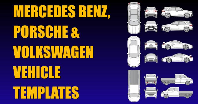 Mercedes Benz Porsche Volkswagen New Vehicle Templates