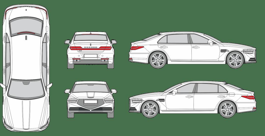 Genesis G90 2020 Vehicle Template