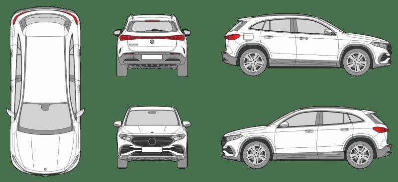 Mercedes Benz EQA 2021 Vehicle Template